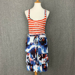 Desigual Hielo Summer Tank Dress Size XL Patriotic